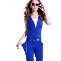 Jumpsuit 2014 spring plus size clothing slim jumpsuit trousers fashion jumpsuit