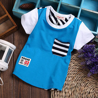 2014 summer children's clothing cotton short sleeve cute cartoon shirt for 1 2 3 years  Kids baby boy BTS032-15