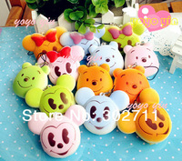 30pcs/lot Candy Colors Caroon Bread Bun Squishy Charm