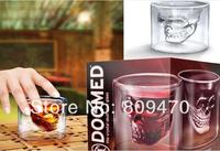 252PCS Factory Price dhl Free Shipping Creative Doomed Crystal Skull Head Vodka Shot Glass Novelty Skeleton Head Wineglass Cup