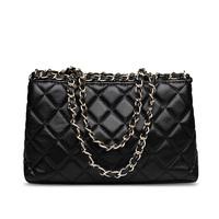 Hot Sale 2014 Patent Bag Quilted Flap Plaid Chain Bag Lambskin Genuine Leather Women's Brands Designer Clutch Bag Shoulder
