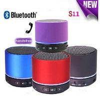 Wireless Bluetooth speaker S11 TF/SD Card with handsfree MIC micphone speaker LED colour light Speaker for mobile phone,PC,MP3