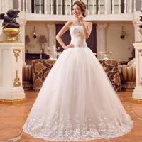 Bride bandage lacing  laciness bow wedding dress 2014 wedding lace up back design Ball gown bridal dress Free shipping