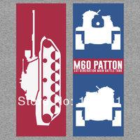 High quality  world of tanks wot Tank M60 Patton (1st Generation Main Battle Tank) Casual  Print T-shirt  Tee Camiseta Dress