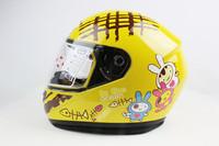 Electric motorcycle quality child helmet v-21 belt muffler scarf baby cartoon