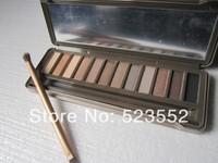 Hot sale 12 colors Nake makeup 3 Professional eye shadow powder NK1 2 3 eyeshadow palettes with brush Freeshipping