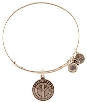 Alex and Ani Turn Peace Up Silver Plated Alloy Charm Bracelets and Bangles for girls Free Shipping
