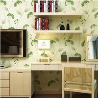 Green Floral Embossed Vinyl Wallpaper Roll Backdrops