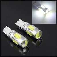 HK Post Free! 4pcs/lot LED Reverse Light  7.5w T10 higt power 168 bulb 194 W5W 7.5W W5W CREE Back Lamp