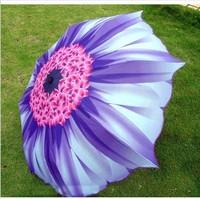Uv sunflower 3 folding umbrella purple