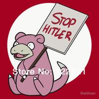 High quality  game jogos anime Pocket Monster Pokemon Slowpoke Protest stop Casual  Print T-shirt  Tee Camiseta Dress