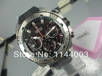 Free shopping 2014 new Festina Men's Chronograph black Dial Date Bike Tour de France Steel Bracelet Date Watch F16658/4