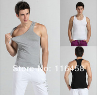 Free Shipping 2014 Hot Promotion Leisure Mens Undershirts  Jogger Sleeveless Muscle Vest Fitness T-shirts