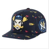 brand 2014 cotton Mlb - new arrival cartoon robot ny cap the trend of the cap hiphop cap hip-hop cap male Women  Free shipping