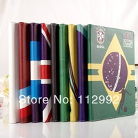 2014 World Cup Design Leather Shell for ipad 2 3 4 5 PU Leather Smart Thin Cover Football Team Protective Skin for ipad air