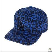 2014 Cotton Mlb - blue leopard print personality baseball cap the trend of the cap la dodge cap male Women  Free shipping