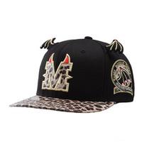 brand2014 cotton black small wings leopard print hat brim devil horn  flat brim cap the trend o hiphop cap  Free shipping