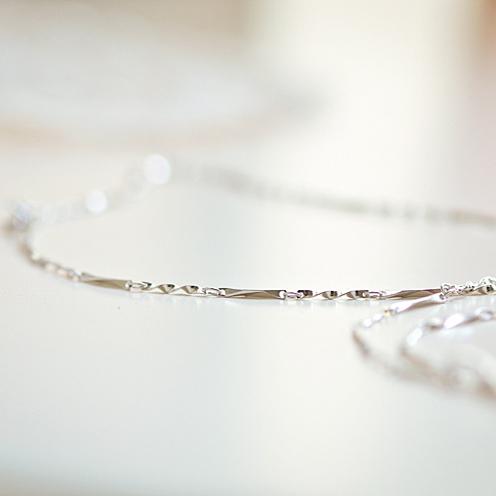 s925 plata pura onda femenino collar cadena cadena de caja semillas de