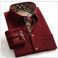 free Shipping 2013 New fashion Mens shirts, classical business, slim fit stylish dress long sleeve shirts 46