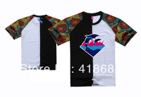 wholesale/retail men Diamond brand fashion pink dolphin Spell color t shirt diamond supply co free shipping Kings