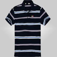 free shipping men's fashion polo shirt , 2014 summer men's thin plaid polo 30