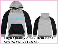 New Arrival Cheap Brand Pull In Gray Black Raglan Sleeve Men's Fashion Letter Print Hooded Hoodies Sweatshirts