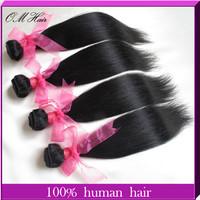 OM Hair: Best Selling Brazilian Virgin Hair Extensions Straight 4pcs/lot Virgin Unprocessed Hair Weave Online #1b Free Shipping