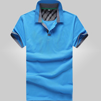 free shipping men's t shirt , new 2014 men's new arrival 100% cotton short sleeve t-shirt 19