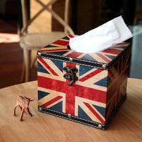 Zakka torx flag tissue box tray prontpage car smoke decoration
