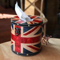 M word flag tissue box british style tray prontpage car smoke decoration