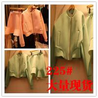2014 one-piece dress twinset  female fashion all-match set  free shipping