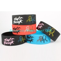 5 pcs/set, free shipping/ DAFT PUNK / Silicone bracelet/1 inch Silicone wrist band/ BRACELET/ mix order welcome