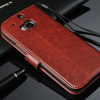 Newest Luxury Wallet  Cases For The HTC One M8 PU Leather Flip Cover  With Stand Function & Card Holders