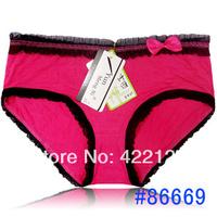 women modal/bamboo fiber lace many color sexy underwear/ladies panties/lingerie/bikini underwear pants/ thong/g-string 6378-6pcs