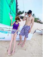 free Shipping billabong surf short,spring swimwear lovers swimwear women's blue swimsuit male beach pants