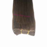 24 inch Hair Weaving Straight,Remy Origin Hair Extensions,Cheap Brazilian 100% Human Hair 100g/pack  medium brown Color 4