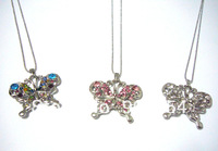 Wholesale 360 Pcs Per Lot  Rhinestone Statement  Necklace Zinc Alloy Butterfly  Animal  Pendant Classic Royal Crystal Necklace