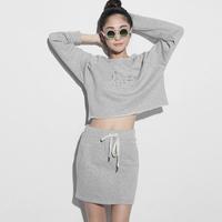 1313 v sexy wind embroidery sports vitality loose high waist short 28321 sweatshirt