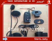 Free Shipping!! 2014 NEW Real two-way wireless communication 500M Motorcycle BT Bluetooth Interphone Headsets Helmet Intercom