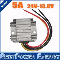 Wholesale 10pcs/lot !! High Quality Step Down DC to DC Power Converter 24V to 13.8V 5A DC-DC Converters