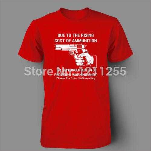 Mens T Shirts Cost Of Ammo Funny Guns Ar15 Ak47 T-Shirt Men Short Sleeve 100% Cotton Printed Custom TShirt Size S~XXXL(China (Mainland))