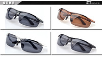 FreeShipping+8179 The new fashion  Sunglasses wholesale Men with Aluminum and magnesium  polarized&Classic  driving glasses