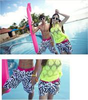 free Shipping boardshorts lovers beach pants male women's trunk swimwear lovers swimwear 13