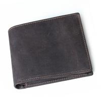 Cattle male short design zipper genuine leather wallet Men handmade cowhide wallet 4023