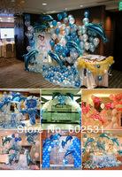 FREE SHIPPING Balloon wedding suit 18pcs 103 cm dolphins aluminum film balloo / 200pcs latex balloons, wedding party arrangement