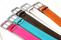 Free Shipping Fashion Leisure Faux Leather Metal Buckle Brand Women Men Leather Belt Ceinture Girdle Cummerbund