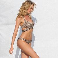 Retro Vintage Design Leopard Print Brand Women Push Up Bikini Set Lady Female Bikinis Bikiny