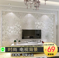 Brief fashion tv background wallpaper non-woven fabric 3d stereotelevision wall