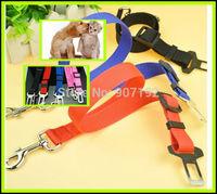 1Pcs 2014 Adjustable Dog Cat Pet Car Safety Seat Belt  Lefdy New 4 Colour Strong pet/Dog Car Travel Seat Belt Clip Lead