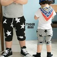 2014 Fashion New Design Child Boy Pants Cotton Star Pockets Capris Kid Baby Goy's Summer  Half LeasureTrousers Clothing 6535265